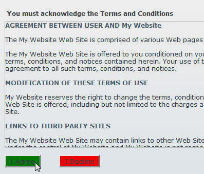 dotnetnuke terms and conditions module dnn software. Black Bedroom Furniture Sets. Home Design Ideas
