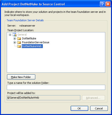 Using Team Foundation Server for Source Control of DotNetNuke