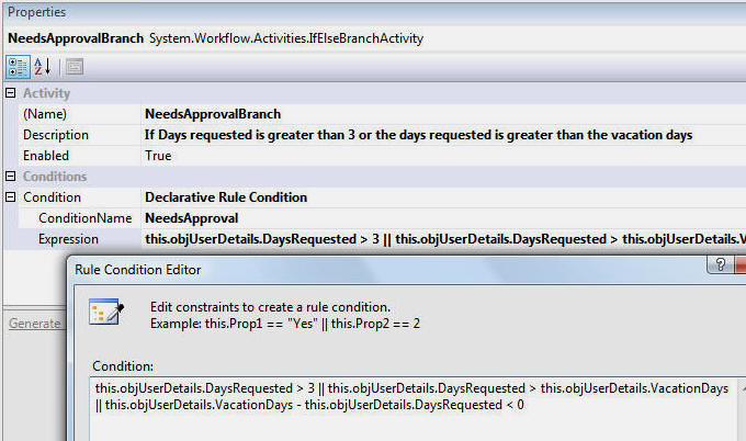 vacation request windows workflow foundation wwf and dotnetnuke